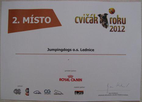 Účast v anketě Kynolog roku 2012- Cvičák roku 2012